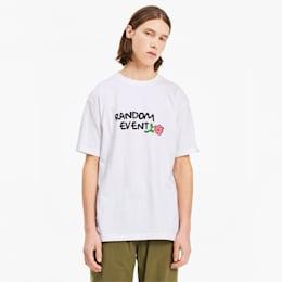 PUMA x RANDOMEVENT ユニセックス Tシャツ 半袖, Puma White, small-JPN