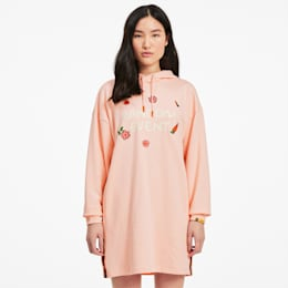 PUMA x RANDOMEVENT フーデッド ドレス ワンピース ウィメンズ, Gossamer Pink, small-JPN