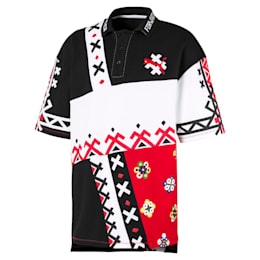 PUMA x JAHNKOY AOP Polo-Shirt, High Risk Red, small