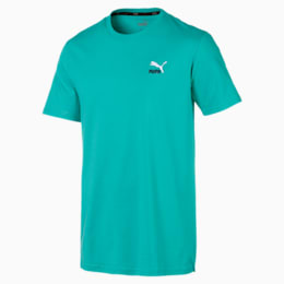 Classics Embroidered Men's Tee, Blue Turquoise, small