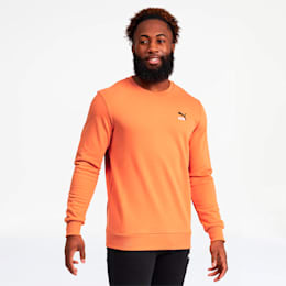Classics Men's Embroidered Crewneck Sweatshirt, Jaffa Orange, small