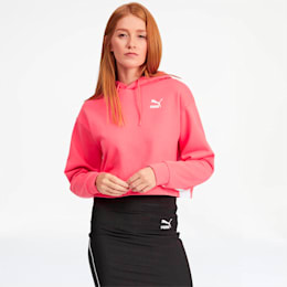 Classics Women's Cropped Hoodie, Calypso Coral, small