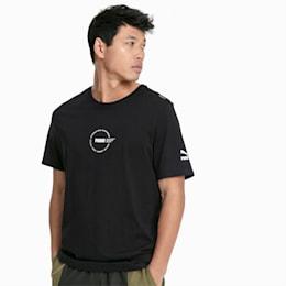 Camisola de manga curta XTG Trail Graphic para homem, Cotton Black, small