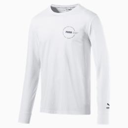 T-shirt de corrida de manga comprida XTG Trail para homem, Puma White, small