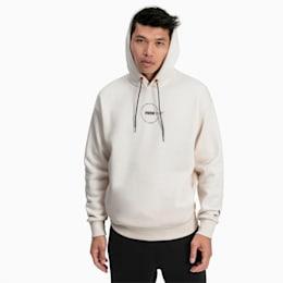Camisola de manga comprida com capuz XTG Trail Graphic para homem, Whisper White, small