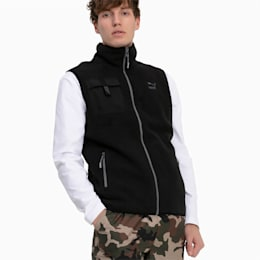 XTG Trail Fleece Full Zip Men's Pocket Gilet, Puma Black, small