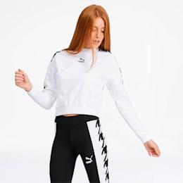 Trend Women's Graphic Crewneck Sweatshirt, Puma White, small