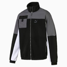 XTG Trail Woven Full Zip Men's Jacket, Puma Black, small-SEA