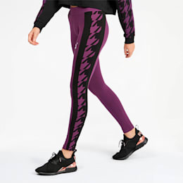 Trend Women's Graphic Leggings, Plum Purple, small