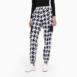 Trend Woven Sweatpants til Damer, Puma Black-Houndstooth AOP, small