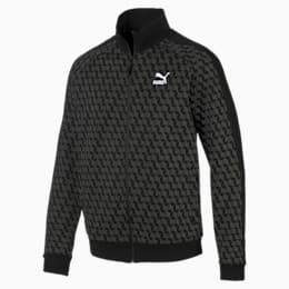 Luxe Men's AOP Track Jacket, Cotton Black-AOP, small