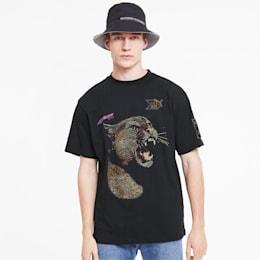 Camiseta estampada PUMA x RHUDE para hombre, Puma Black, pequeño