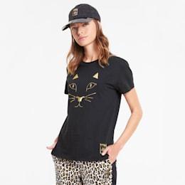 PUMA x CHARLOTTE OLYMPIA Damen T-Shirt, Puma Black, small