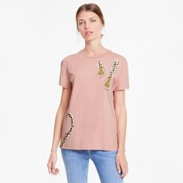 PUMA x CHARLOTTE OLYMPIA Damen T-Shirt, Silver Pink, small