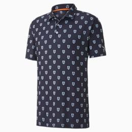 X Skull Men's Golf Polo Shirt, Peacoat, small-SEA