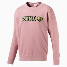 Pop Style Herren Langarm Sweatshirt mit Stickerei