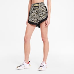 PUMA x CHARLOTTE OLYMPIA Women's AOP Shorts, Puma White AOP, small
