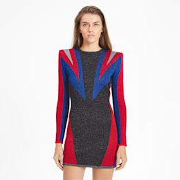 PUMA x BALMAIN ウィメンズ JACQUARD ドレス, Puma Black, small-JPN