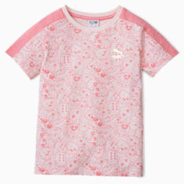 Monster Allover-Print Kinder T-Shirt, Rosewater, small