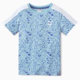 Monster AOP Kids-T-shirt, Bright Cobalt, small