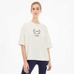 PUMA x SELENA GOMEZ Oversized Women's Tee, Whisper White, small