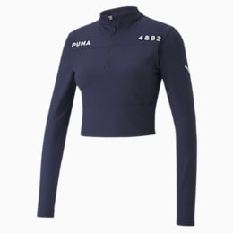 PUMA x SELENA GOMEZ Half Zip Crop-jakke til kvinder