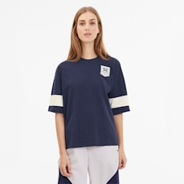 SG x PUMA Women's Oversized Tee, Peacoat, small