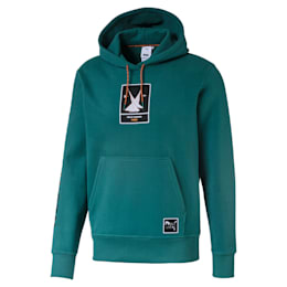 PUMA x HELLY HANSEN Hoodie, Teal Green, small