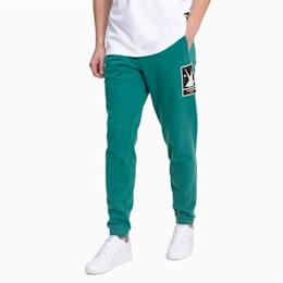 Polarowe spodnie dresowe PUMA x HELLY HANSEN, Teal Green, small