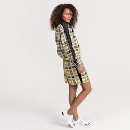Check Women's Skirt, Yellow Cream, small