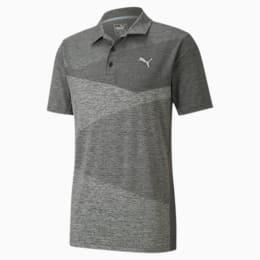Alterknit Men's Jacquard Polo, Puma Black Heather, small