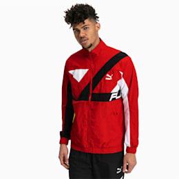 Ferrari Energy Full Zip Woven Men's Jacket, Rosso Corsa, small