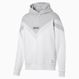 Space Explorer Men's Hoodie, Puma White, small