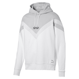 Space Explorer Men's Hoodie, Puma White, small-IND