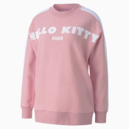 PUMA x HELLO KITTY Women's Crewneck Sweatshirt, Silver Pink, small