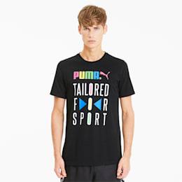 Graphic Tailored for Sport Herren T-Shirt, Puma Black, small