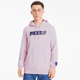 Digital Love Men's Hoodie, Lilac Snow, small