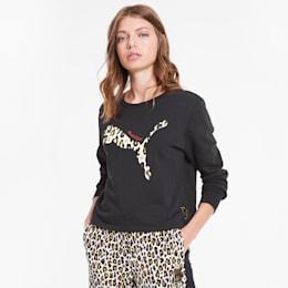 PUMA x CHARLOTTE OLYMPIA Crew Women's Sweatshirt, Puma Black, small