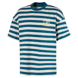 T-Shirt Breton Stripes Boxy pour homme, Blue Coral-Dove, small
