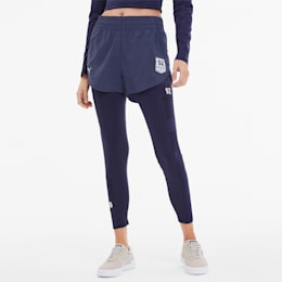 SG x PUMA Women's Woven Shorts, Peacoat, small