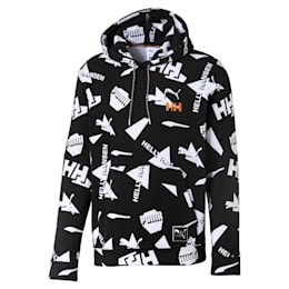 PUMA x HELLY HANSEN Long Sleeve AOP Hoodie, Puma Black, small-SEA