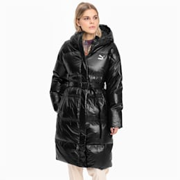Lange Damen Daunenjacke, Puma Black, small
