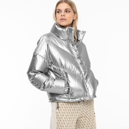 Cropped Down Women's Jacket, Puma Silver, small
