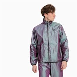 Iridescent Pack-jakke i vævet materiale til mænd, Plum Perfect-Iridescent, small