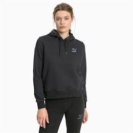 Iridescent Pack Women's Hoodie, Cotton Black, small