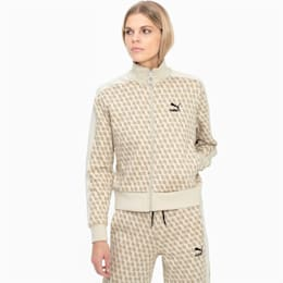 Luxe Pack-træningsjakke med dækkende print til kvinder, Overcast-AOP, small