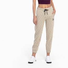 Pantaloni sportivi con stampa all-over della linea Luxe per donna, Overcast-AOP, small