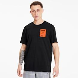 T-shirt Recheck Pack Graphic para homem, Cotton Black, small