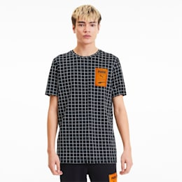 Recheck Pack All-Over-Print Men's Tee, Cotton Black-AOP, small