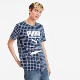 Recheck Pack Allover-Print Herren T-Shirt, Dress Blues-AOP, small
